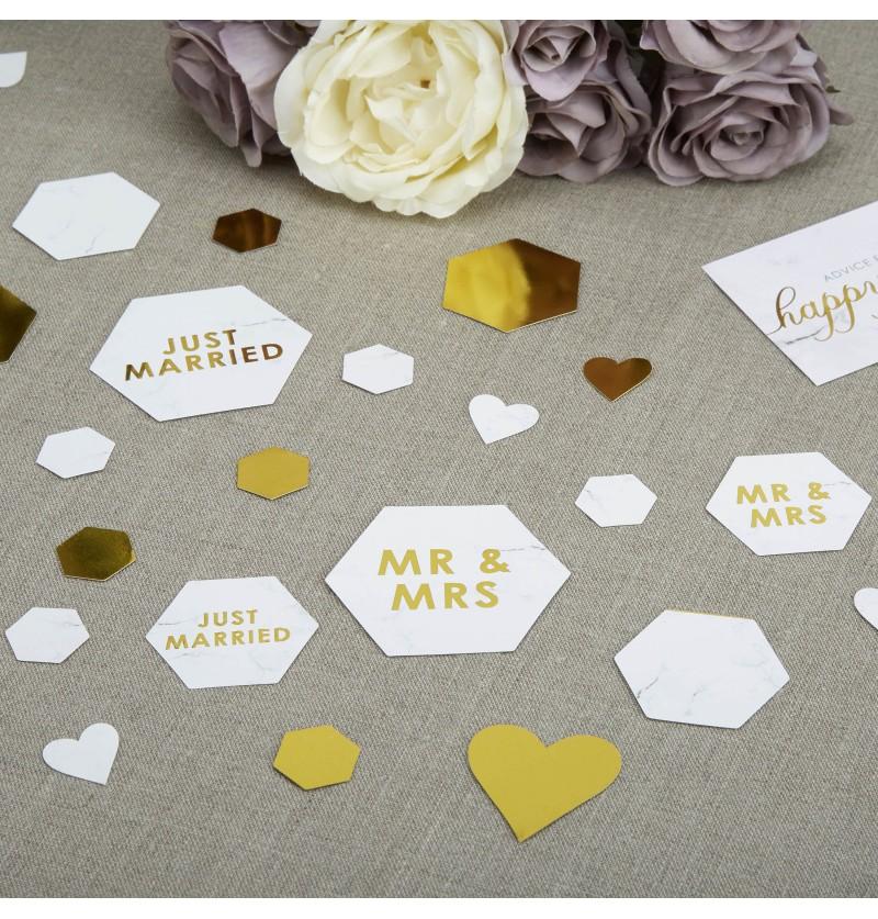 Confeti para mesa variado - Scripted Marble