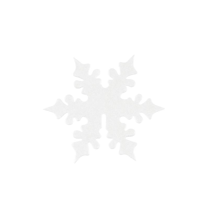 Set de 10 adornos para vasos de copo de nieve blanco - Snowflake
