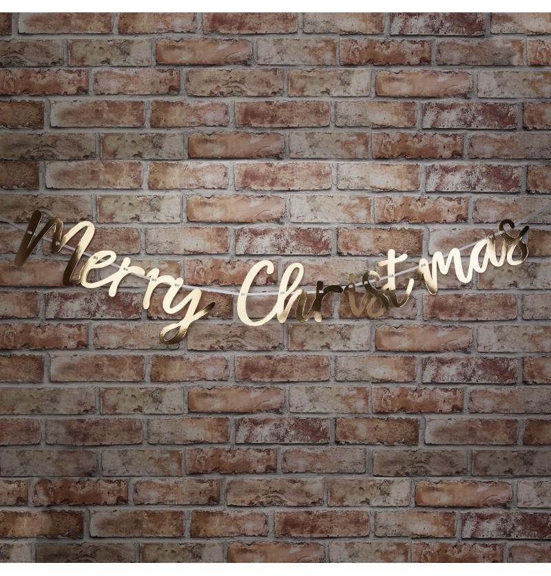 """Guirnalda """"Merry Christmas"""" dorada - Dazzling Christmas"""