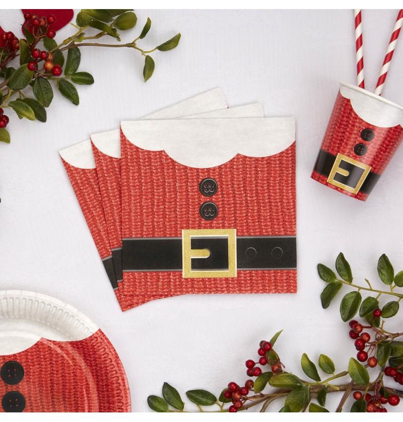 Set de 16 servilletas navideñas de papel - Dear Santa