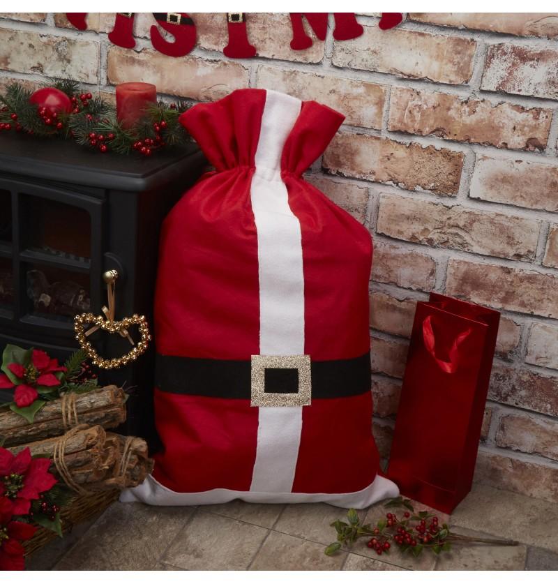 Saco de fieltro para envolver regalos - Dear Santa