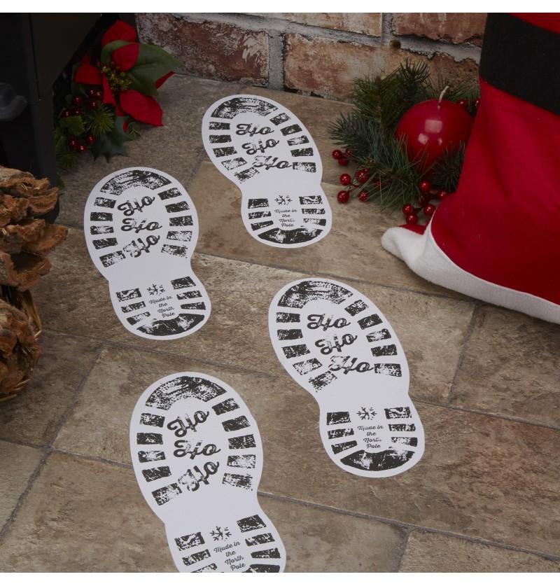 """Set de 12 pegatinas de pisadas """"Ho ho ho"""" - Dear Santa"""