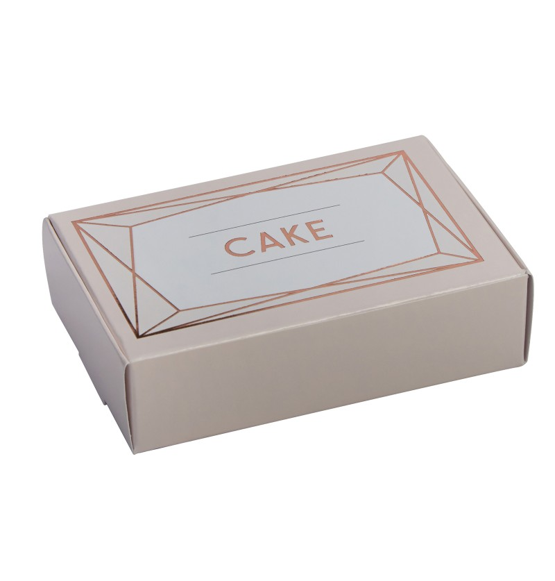 Set de 10 cajitas de regalo en oro rosa de papel - Geo Blush