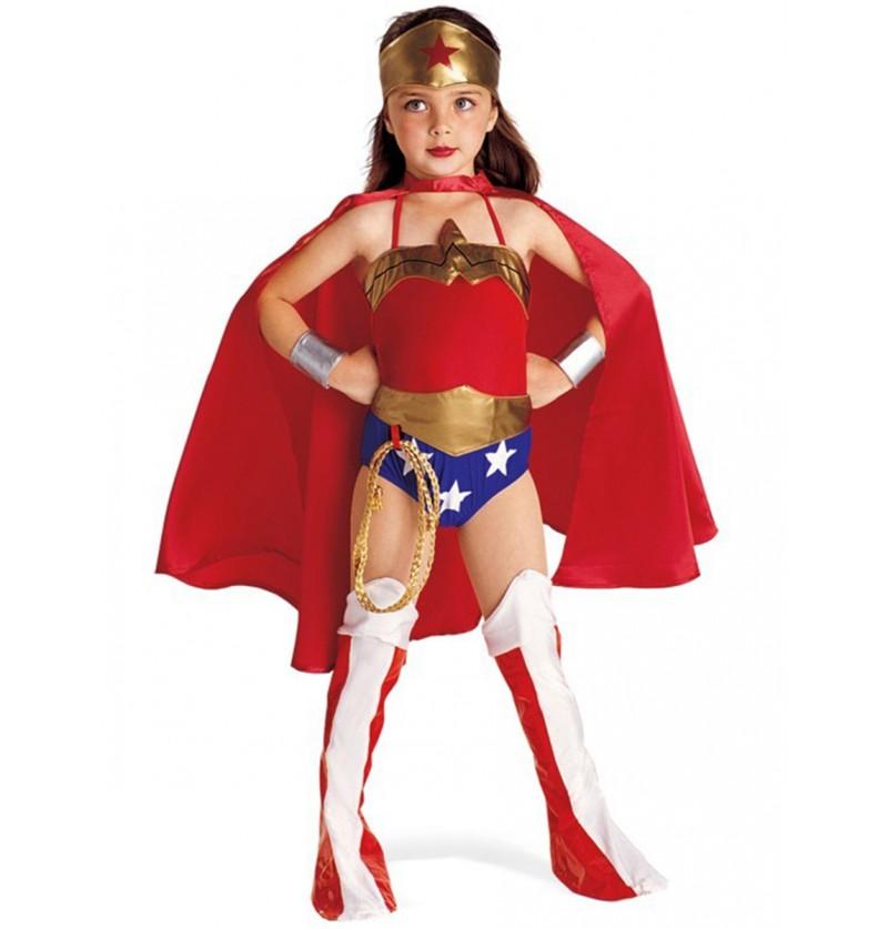 Disfraz de Wonder Woman niña