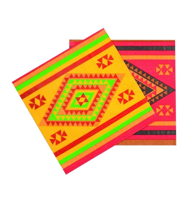 Set de 12 servilletas para fiesta mejicana