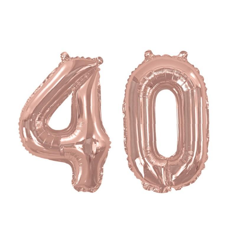 """Globo foil """"40"""" en oro rosa - Glitz & Glamour Pink & Rose Gold 40cm"""
