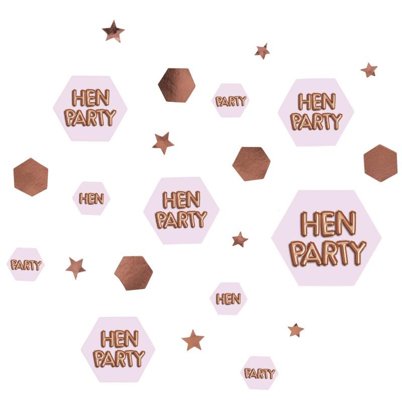 "Confeti para mesa ""Hen Party"" - Glitz & Glamour Pink & Rose Gold"