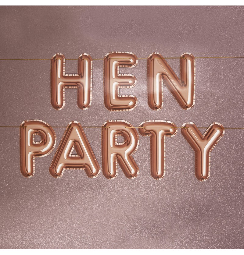 "Guirnalda ""Hen Party"" oro rosa - Glitz ¬ Glamour"