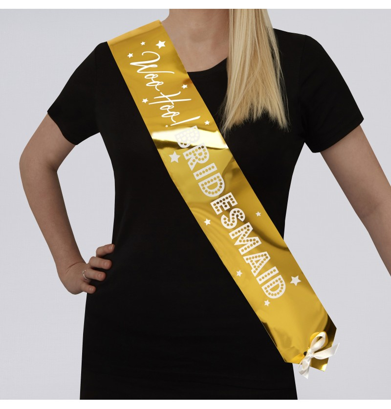 "Set de 2 bandas ""Bridesmail Sash"" - Woo Hoo Hen Do"