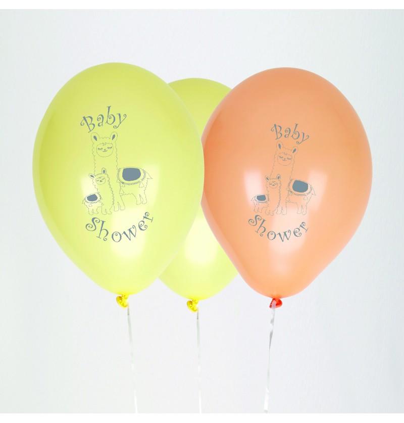 Set de 8 globos de látex - Llama Love