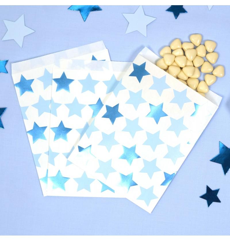 Set de 25 bolsitas para chucherías de papel - Little Star Blue