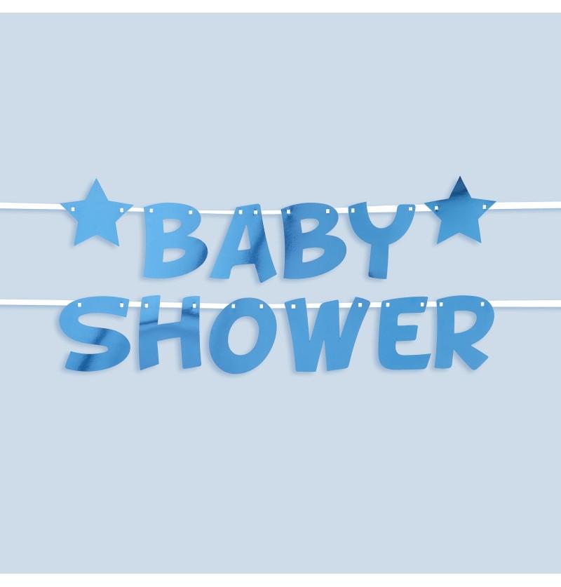 "Guirnalda ""Baby shower"" azul - Little Star Blue"