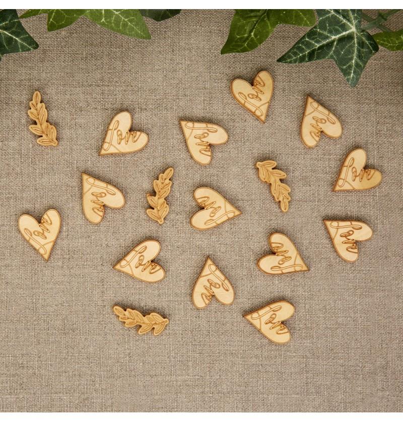 Confeti para mesa de papel - Hearts & Krafts