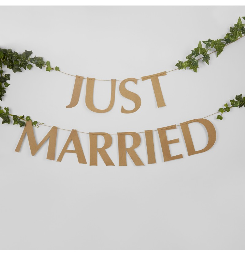 "Guirnalda ""Just Married"" - Hearts & Krafts"