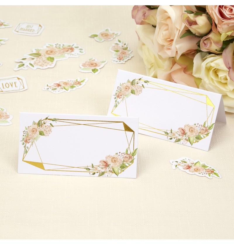 Set de 25 tarjetas para sentarse en la mesa  - Geo Floral
