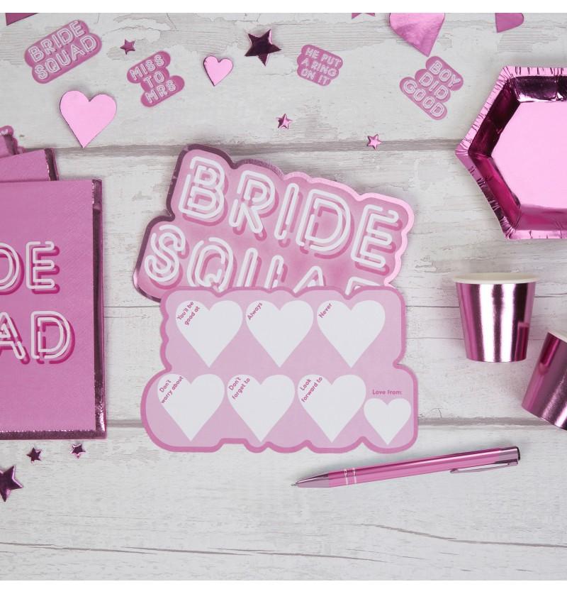 Set de 10 tarjetas divertidas de papel - Bride Squad