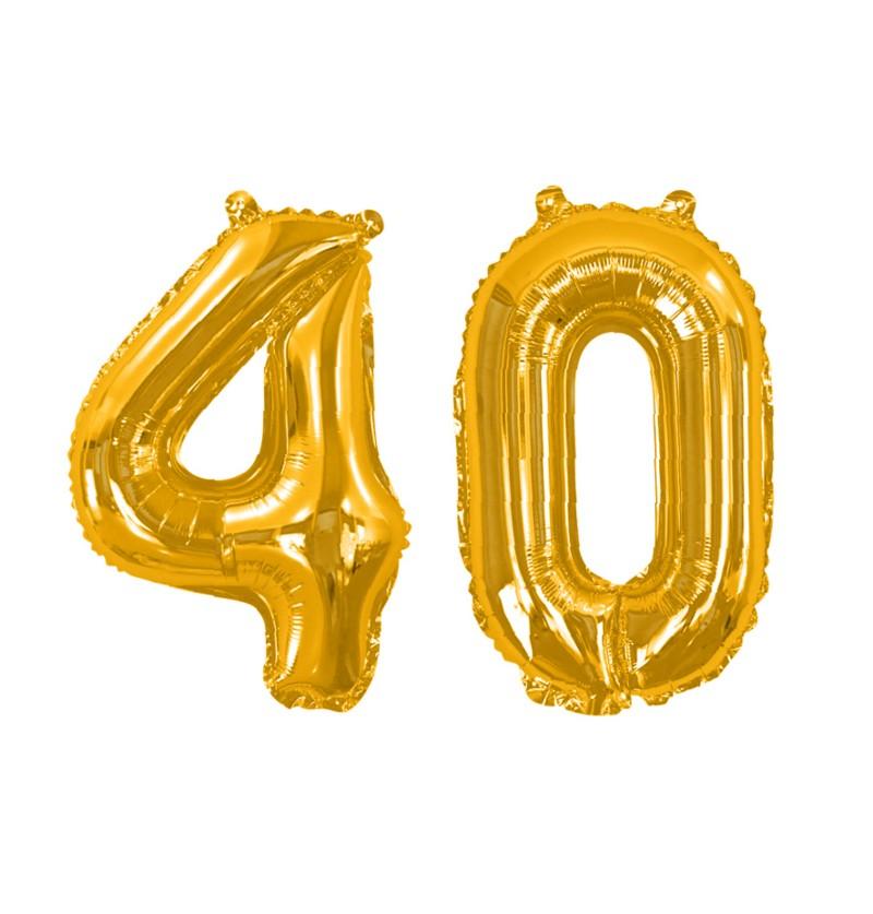"""Globo foil """"40"""" en dorado - Glitz & Glamour Black & Gold 40cm"""