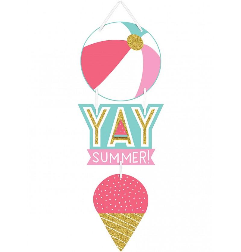 Cartel de helado para fiesta de verano - Just Chillin