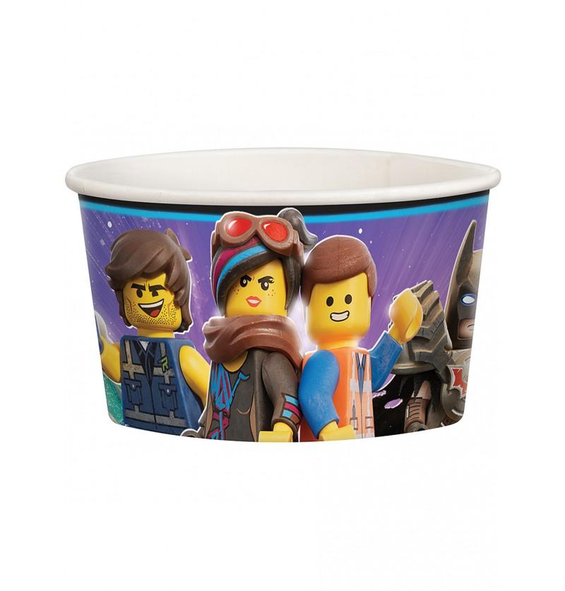 Set de 8 vasitos para helado de Lego 2 - Lego Movie 2