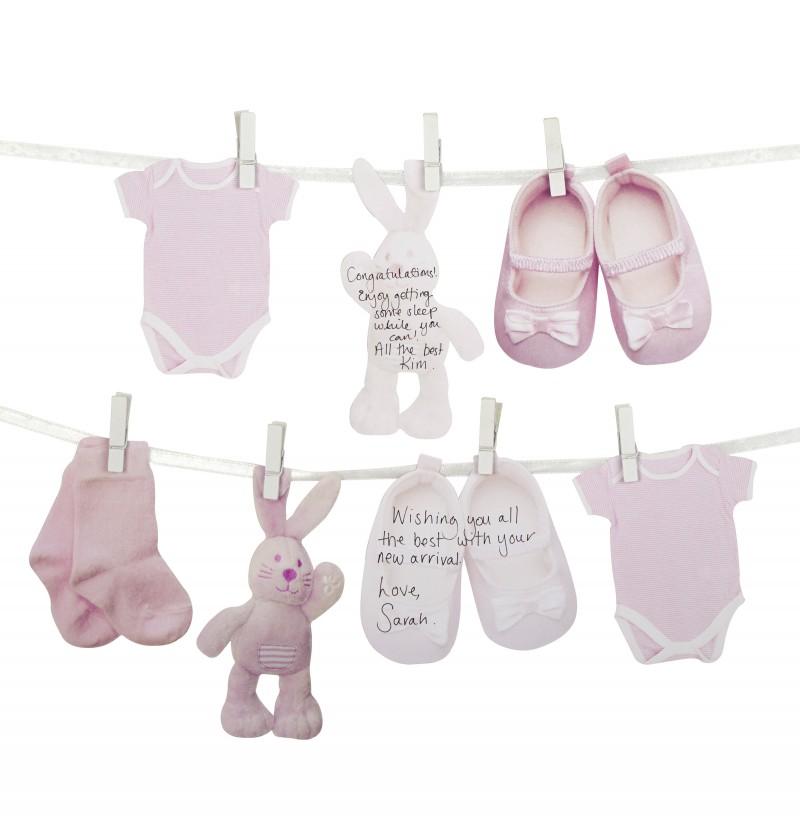 Libro de visitas alternativo para Baby Shower rosa - Pattern Works