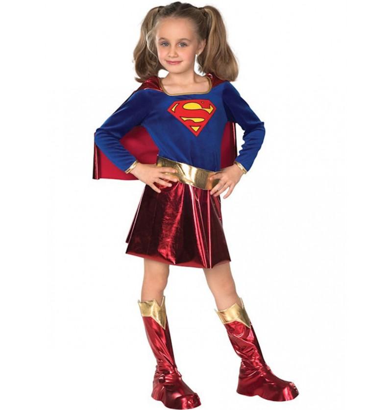 Disfraz de Supergirl niña Deluxe