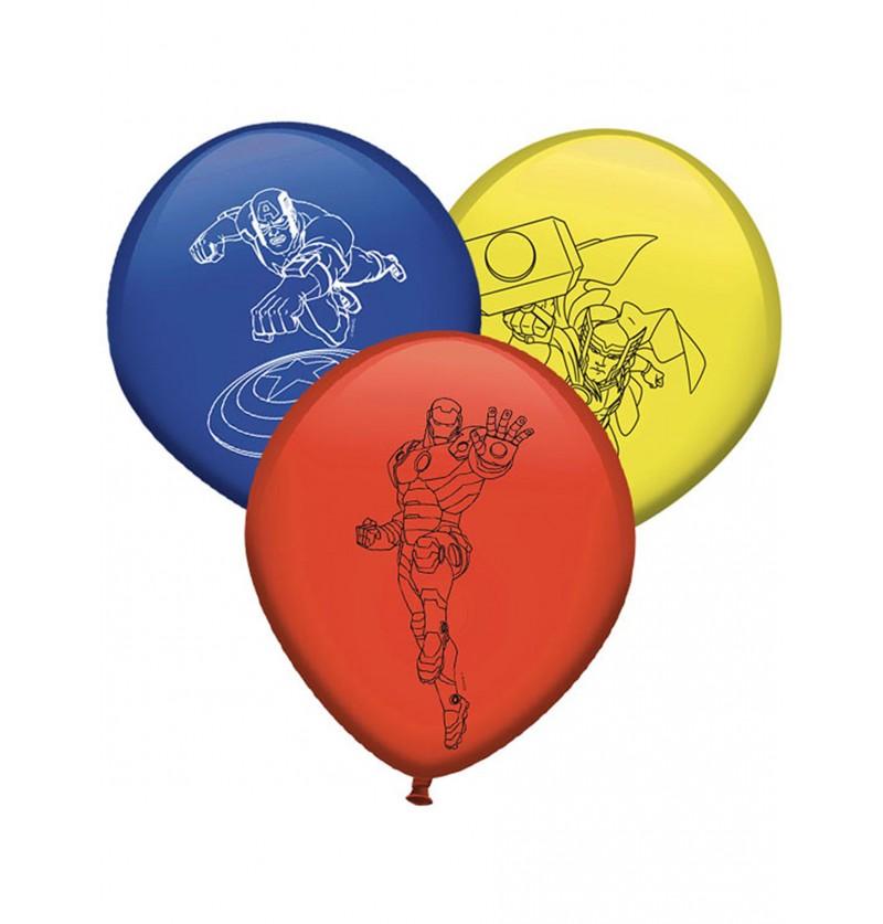 Set de 8 globos de PJ Mask colores variados