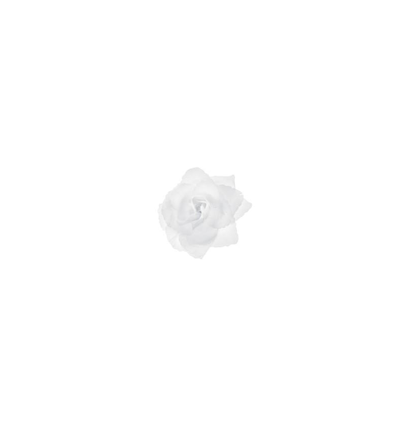Set de 24 rosas blancas adhesivas para coche de novia