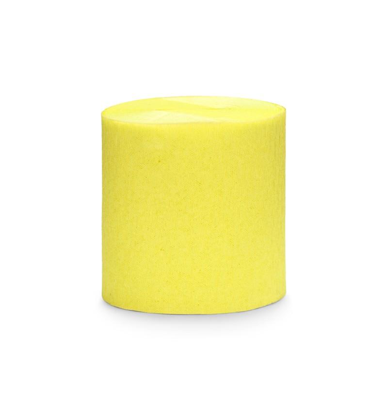 Set de 4 rollos de papel crepe amarillo de 10 m para cortina