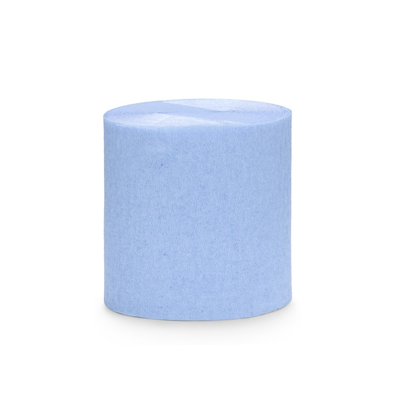 Set de 4 rollos de papel crepe azul pastel de 10 m para cortina