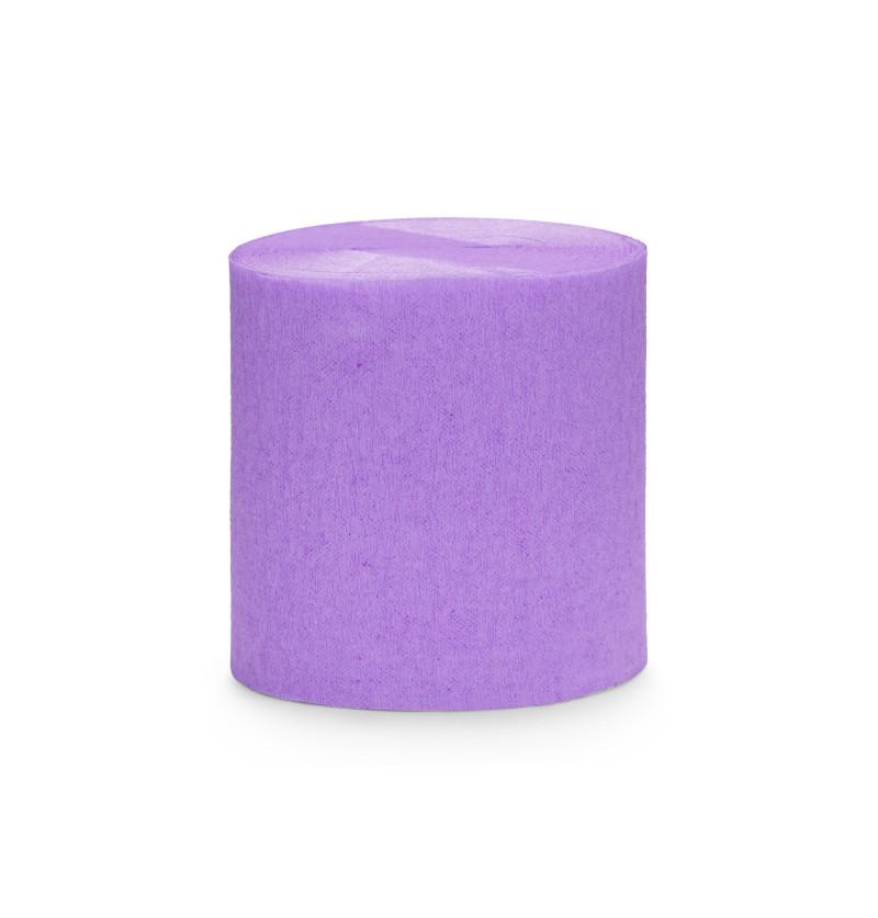 Set de 4 rollos de papel crepe lila de 10 m para cortina