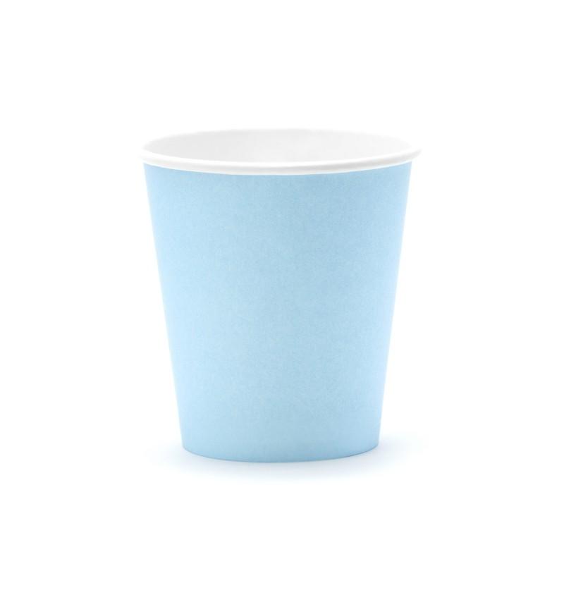 Set de 6 vasos azules de papel - Gender Reveal Party