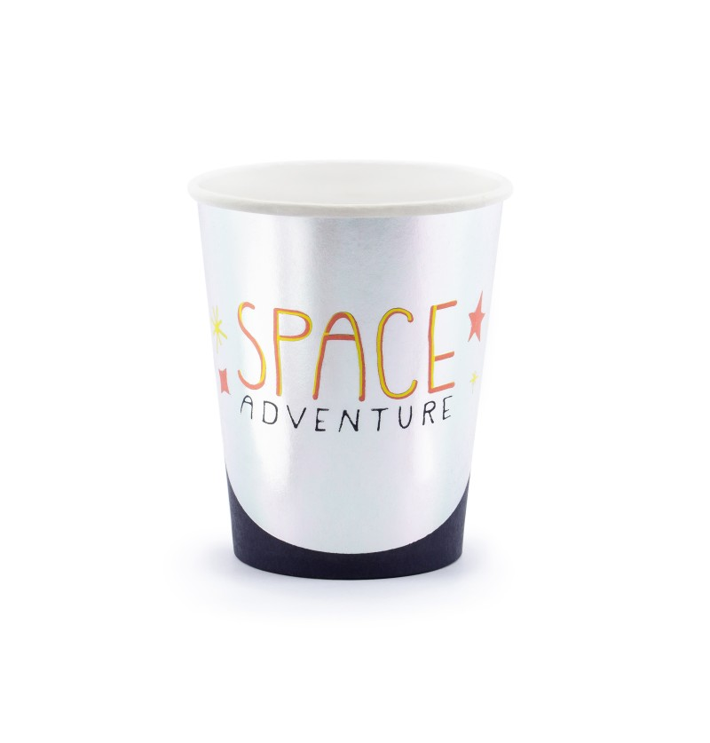 """Set de 6 vasos """"Space Adventure"""" de papel - Space Party"""