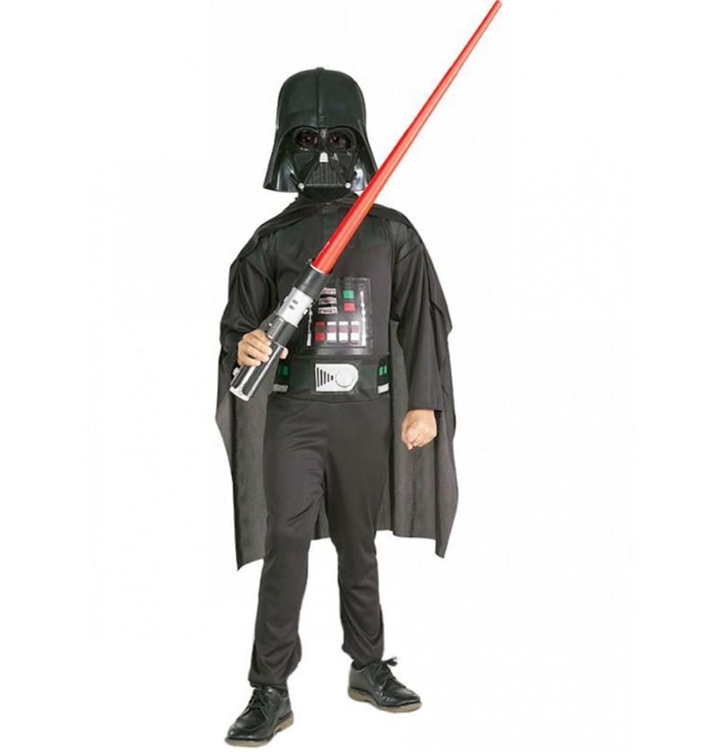 Disfraz de Darth Vader con espada láser para niño
