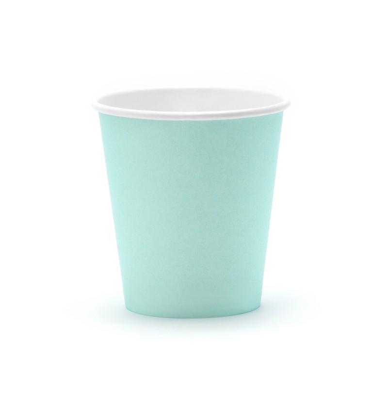Set de 6 vasos azul turquesa de papel - Aloha Collection