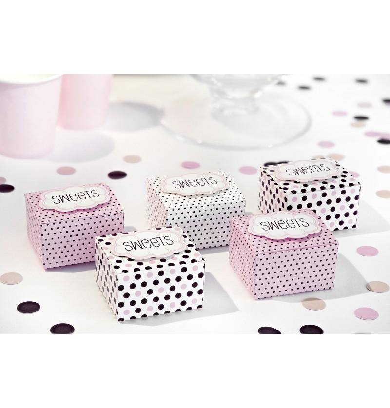 Confeti redondo tonos pastel rosas de papel para mesa - Sweets
