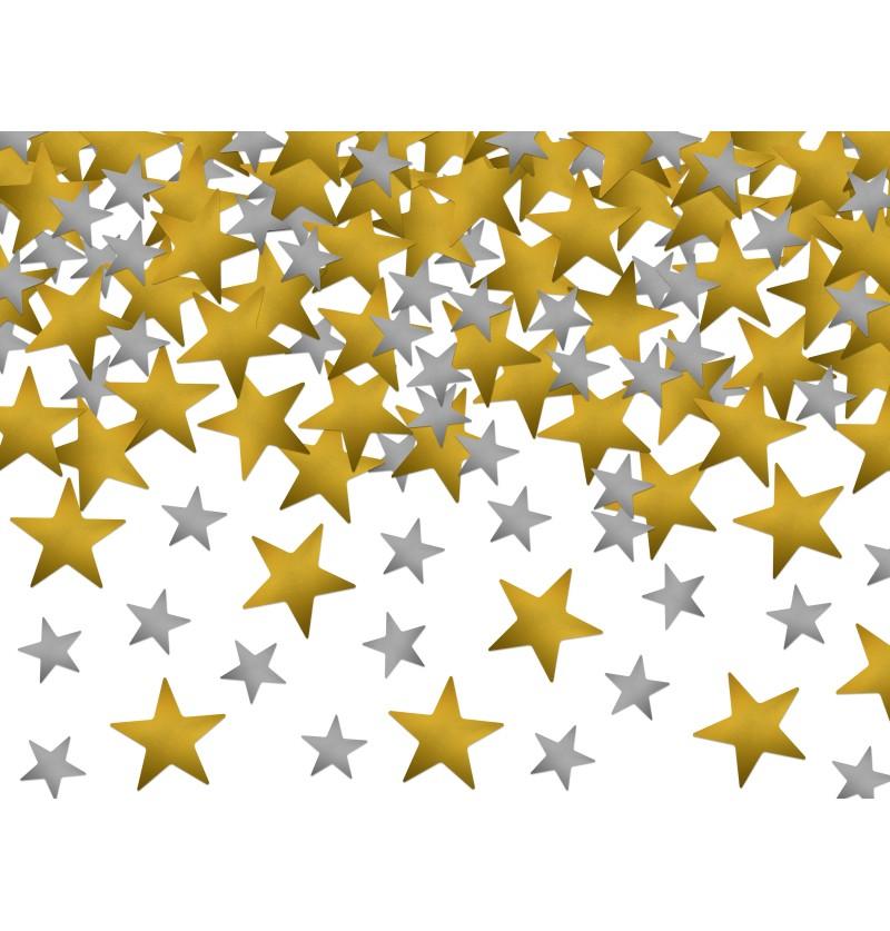 Confeti con forma de estrellas doradas y plateadas - New Year's Eve & Carnival