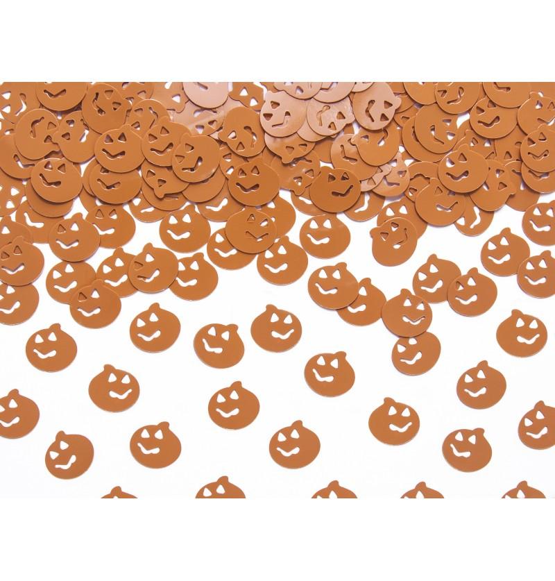Confeti con forma de calabaza naranja para mesa - Halloween