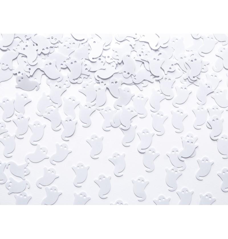 Confeti con forma de fantasma blanco para mesa - Boo!