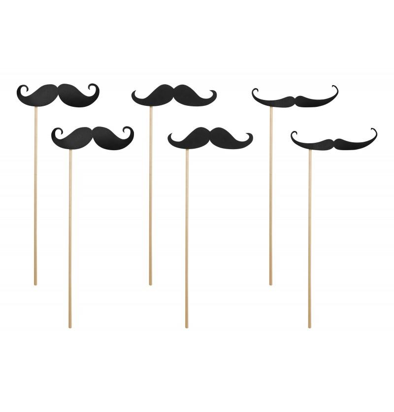 Set de 6 bigotes para photocall
