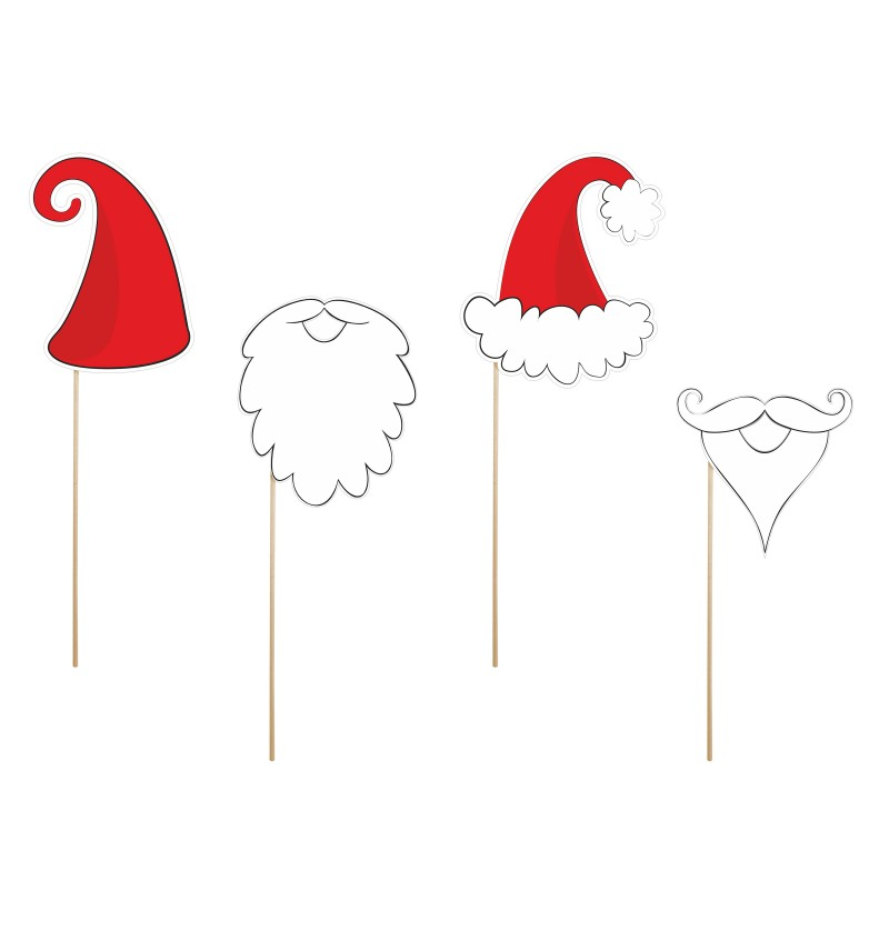 "Set de 4 piezas ""Papa Noel"" para photocall - Christmas"