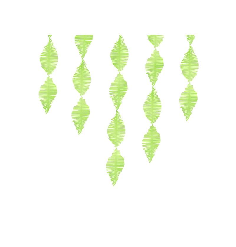 Guirnalda verde claro de papel crepe