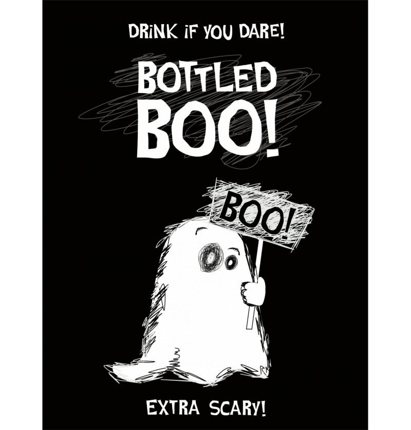 Set de 10 pegatinas de fantasma para botellas - Boo!