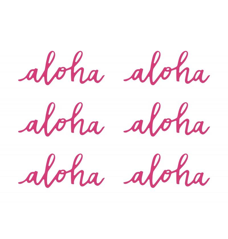 """Set de 6 elementos decorativos para mesa """"Aloha"""" - Aloha Collection"""