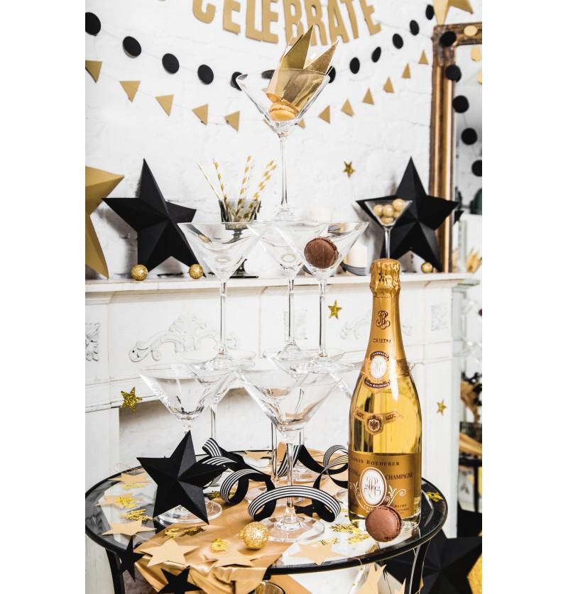 Set de 25 bolitas pequeñas doradas decorativas para mesa