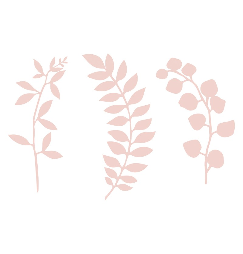 Set de 9 flores rosa pastel para decoración de mesa - Natural Wedding
