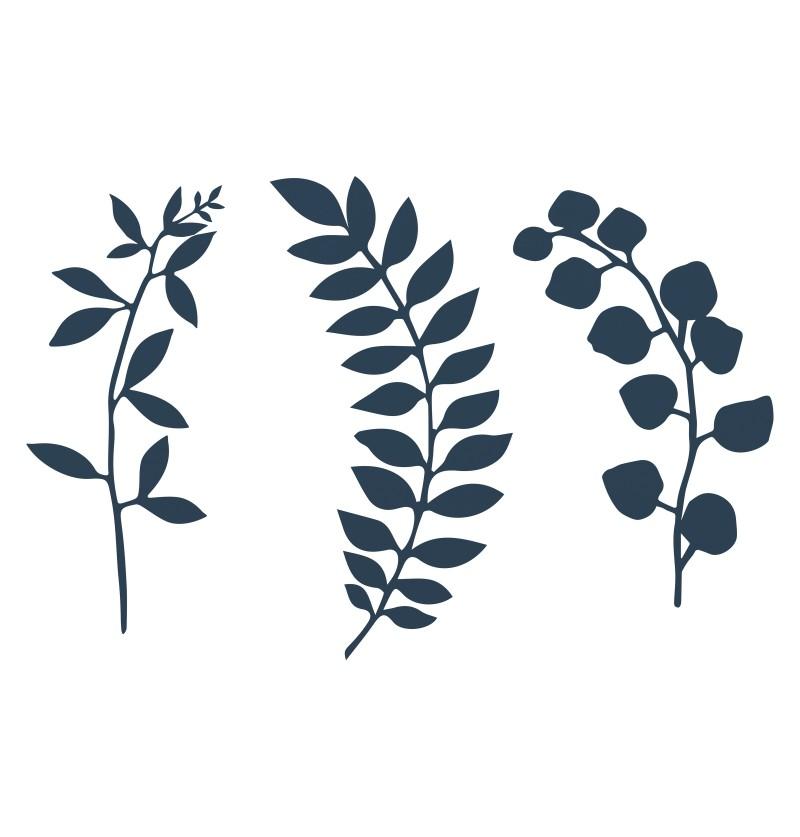 Set de 9 flores azul marino para decoración de mesa - Natural Wedding