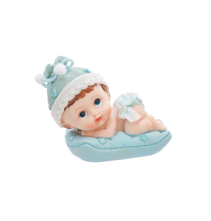 Figura para tarta de niño sobre almohada - Little Figurines