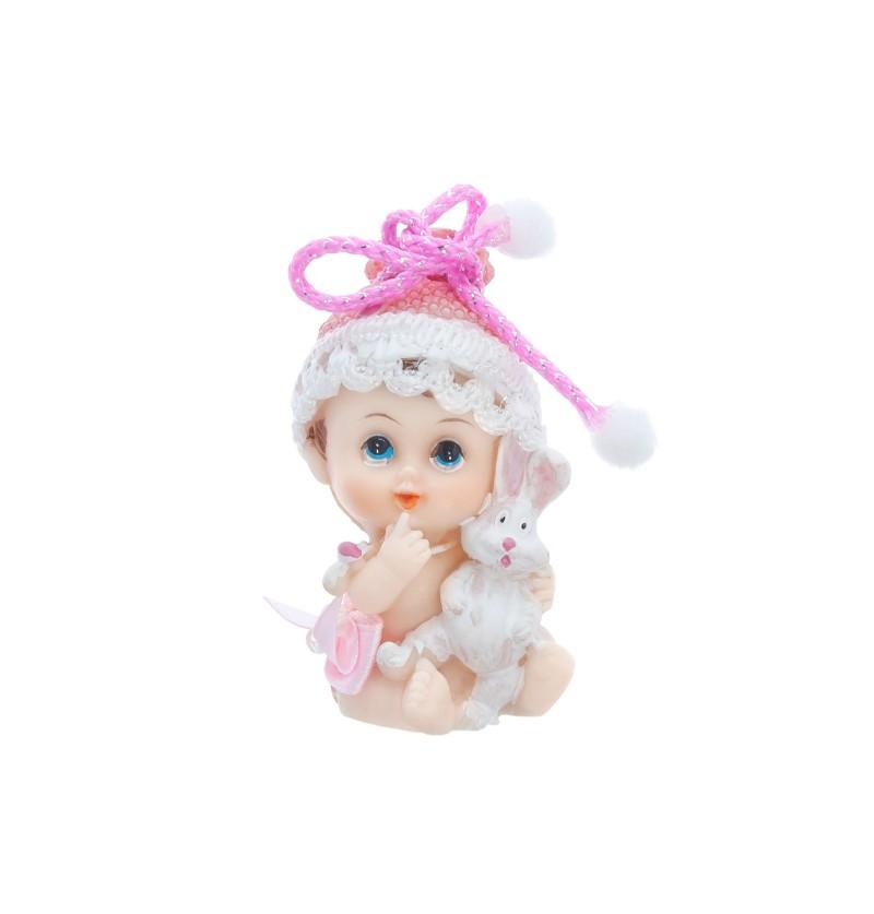 Figura para tarta de niña con conejito - Little Figurines