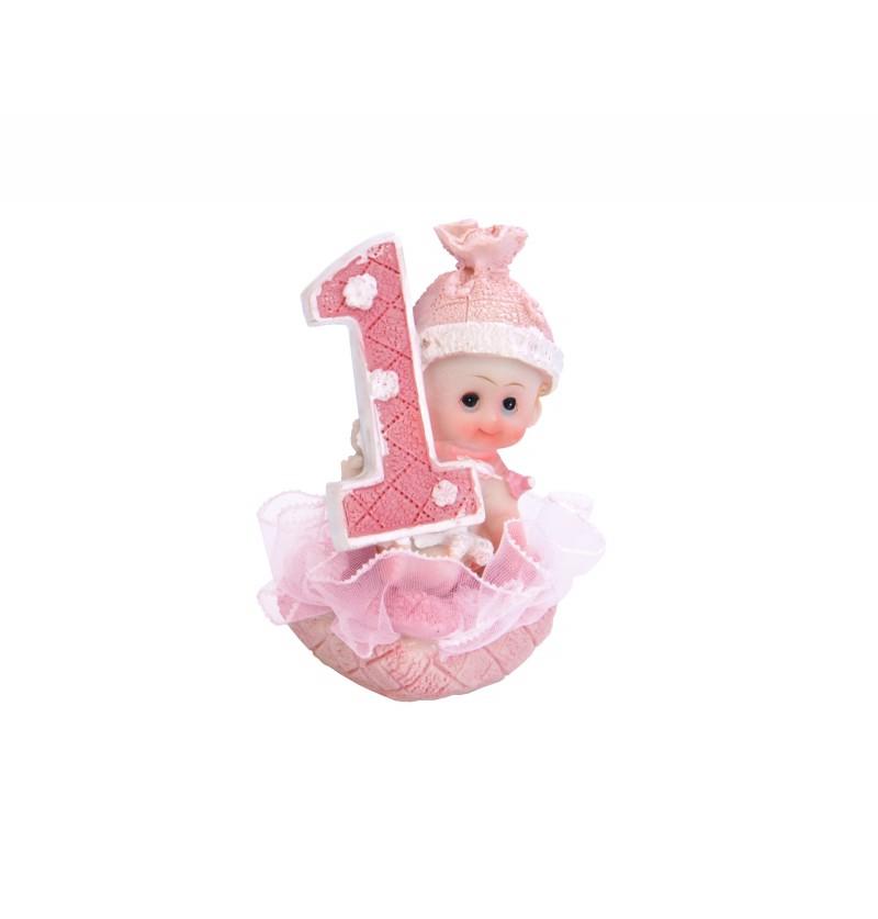 Figura para tarta 1º cumpleaños niña - Little Figurines