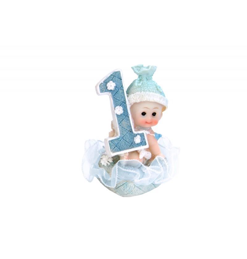 Figura para tarta 1º cumpleaños niño - Little Figurines